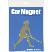 Field Hockey Player Magnet