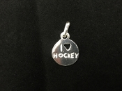 I heart Hockey Charm