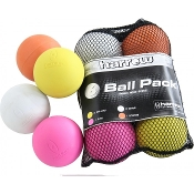 6 Pack Lacrosse Balls in Mesh Bag, Multi